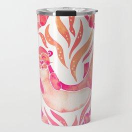 Five Otters – Pink Ombré Travel Mug