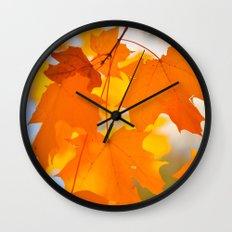 Yellow-orange Autumn Wall Clock