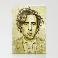 tim burton Stationery Cards featuring Tim Burton by Renato Cunha