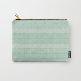 Geometric pattern mint green Carry-All Pouch