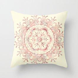 Floral Mandala Throw Pillow