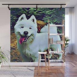 The American Eskimo Dog Wall Mural