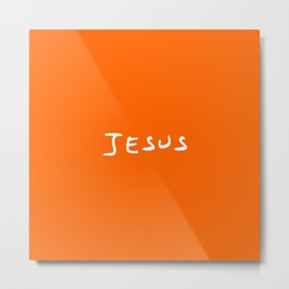 Jesus 4 orange Metal Print