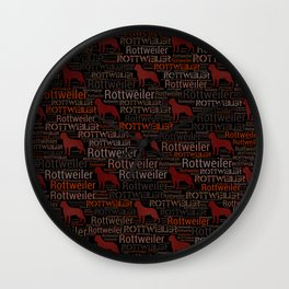 Rottweiler  - Metzgerhund Pattern Wall Clock