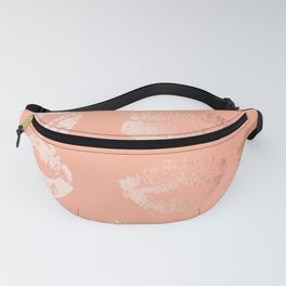 Sweet Life Lips Peach Coral Pink Shimmer Fanny Pack