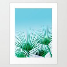 Airhead - memphis throwback retro vintage ombre blue palm springs socal california dreamer pop art Art Print