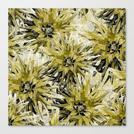Dahlias in swamp and white Canvas Print
