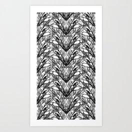 Birds in the Arrochar tree's Art Print