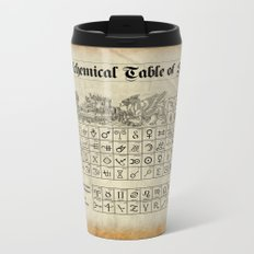 The Alchemical Table of Symbols Metal Travel Mug