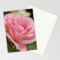 Pink wet rose Stationery Cards
