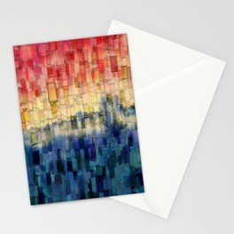 Blue Tide Mosaic Stationery Cards