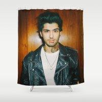 zayn malik Shower Curtains featuring Zayn Malik Punk Edit by Vinny's Edits