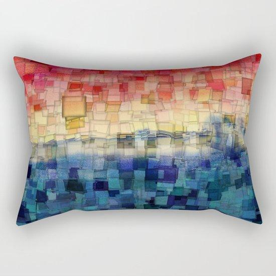 Blue Tide Mosaic Rectangular Pillow