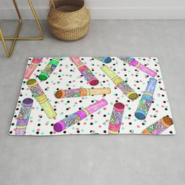 Retro 80's 90's Neon Colorful Push Candy Pop Rug