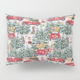 Dachshund decorates the christmas tree Pillow Sham