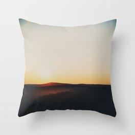 Sunset over Garden of the Gods in Illinois Throw Pillow
