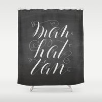 manhattan Shower Curtains featuring Manhattan by Molly Suber Thorpe