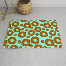Donut and holes pattern // Doughnut and holes pattern // Donut lover Rug