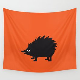 Angry Animals: hedgehog Wall Tapestry