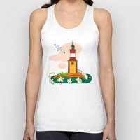lighthouse Tank Tops featuring Lighthouse by LaDa