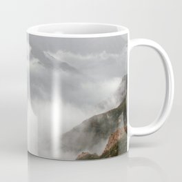 landscape mountains clouds over the clouds Coffee Mug