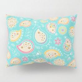 Hedgehog Paisley_Colors and Light blue Pillow Sham