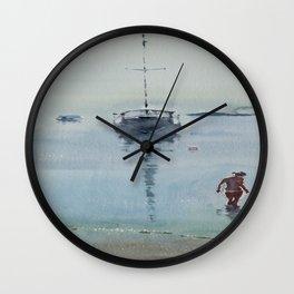 Morning at Sea Wall Clock