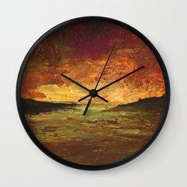 Sunset Experiment Wall Clock