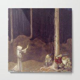 John Bauer - St. Martin and the Three Trolls - Digital Remastered Edition Metal Print