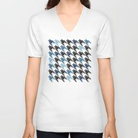 tooth V-neck T-shirts featuring Blue Tooth by Project M