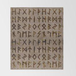 Ancient Celtic Runes  Alphabet pattern Throw Blanket