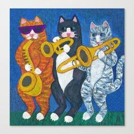 Salsa Cats Brass Section Canvas Print