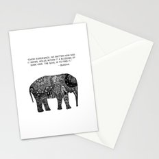 Buddha Quote with Henna Elephant Stationery Cards