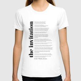 The Invitation by Oriah Mountain Dreamer T-shirt