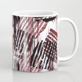 Red black lines Coffee Mug