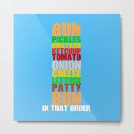 Krabby Patty Metal Print
