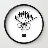 lawyer Wall Clocks featuring Lawyer  | The world inside your head  by teokon
