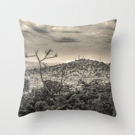 Guayaquil Outskirts Aerial View from Botanical Garden Throw Pillow
