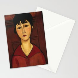 Amedeo Modigliani - Head Of A Young Girl Stationery Cards