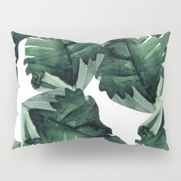 Banana Leaves Pattern Green Pillow Sham