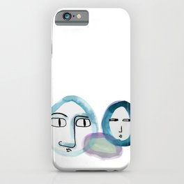 """""""Paper Drawings/Paintings"""" The Wondering and The Lurking in Sapphire Blue iPhone Case"""