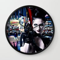 android Wall Clocks featuring Android Dreams by Danielle Tanimura