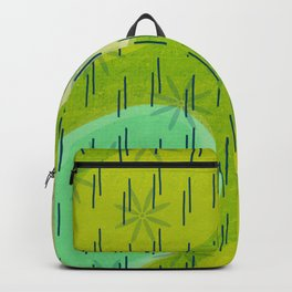 Modern circles with flowers and rain Backpack
