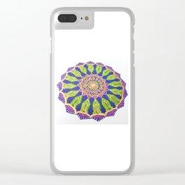 Colourful Spiritual Mandala Art Clear iPhone Case