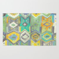 kilim Area & Throw Rugs featuring Kilim Me Softly in Turquoise by Bee&Lotus