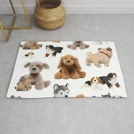 Fluffy Puppy Dog Pattern Rug