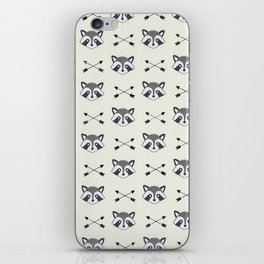 Raccoons and Arrows iPhone Skin