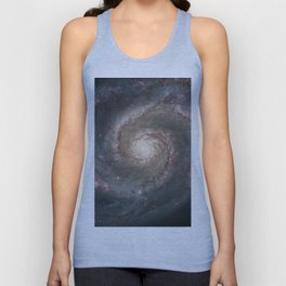 The Whirlpool Galaxy - Space Photograph Unisex Tank Top
