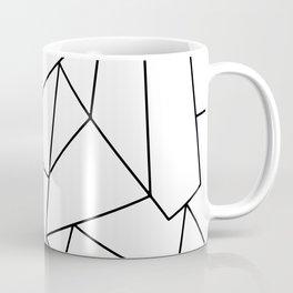Simple Modern Black and White Geometric Pattern Coffee Mug