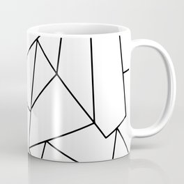 Simple Modern Black and White Geometric Pattern Coffee Mug